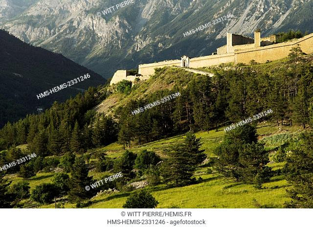 France, Hautes Alpes, Briancon, Vauban city, listed as World Heritage by UNESCO, the fort Dauphin