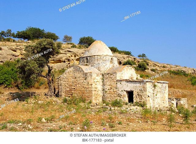 Early Christian church Panagia tis Kyras in a field near Sazlikoey Livadia North Cyprus