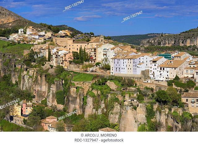 Cuenca, Jucar river gorge, UNESCO World Heritage Site, Castilla-La Mancha, Spain