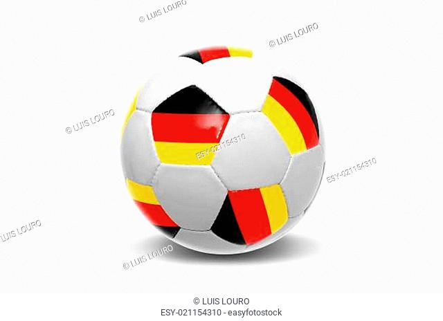 German flag soccer ball