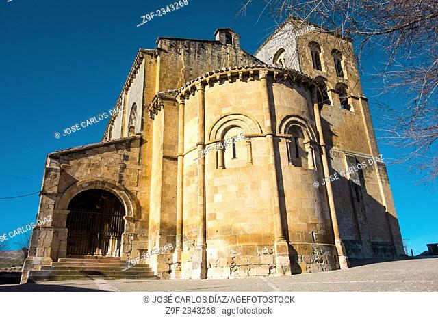 Romanesque church of San Salvador (11th century), Sepulveda, Segovia-province, Castilla-Leon, Spain