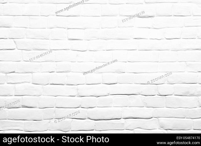 White brick wall can be used for background