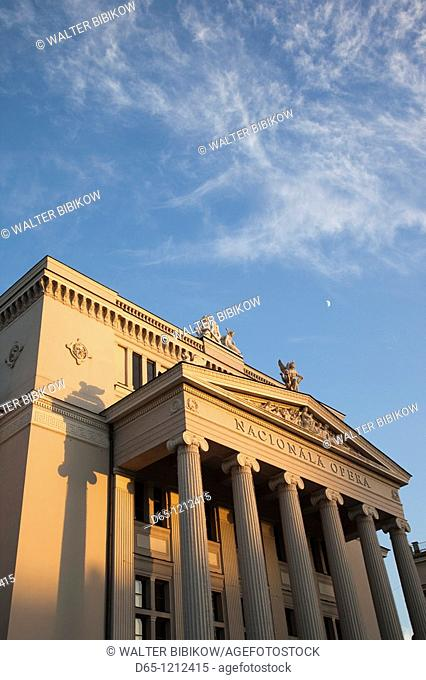 Latvia, Riga, Vecriga, Old Riga, Latvian National Opera, exterior, sunset