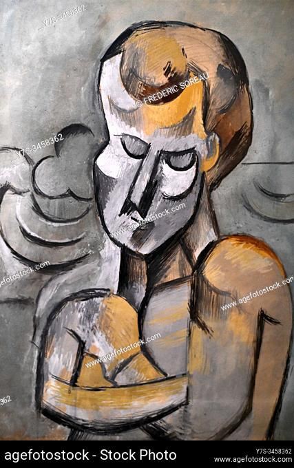 Man with Arms Crossed, 1909, by Pablo Picasso, Hermitage museum, St Petersburg Russia, Europe
