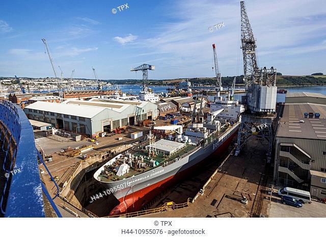 UK, United Kingdom, Europe, Great Britain, Britain, England, Cornwall, Falmouth, Docks, Dockyard, Ship, Ships, Shipping, Ship Repair, Merchant Shipping