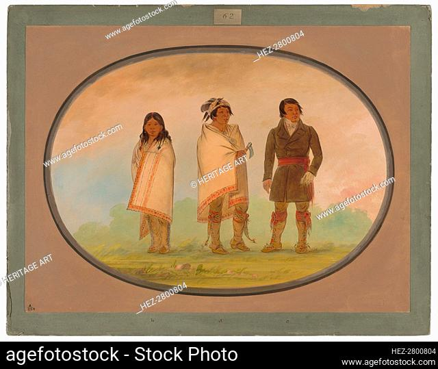 Oneida Chief, His Sister, and a Missionary, 1861/1869. Creator: George Catlin