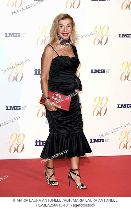 Francesca Lo Schiavo during red carpet of 60/90 party, for 60 years of career and ninetieth birthday of Fulvio Lucisano, Italian Film Producer