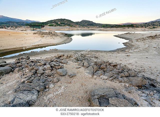 Burguillo reservoir. Avila. Castilla Leon. Spain. Europe