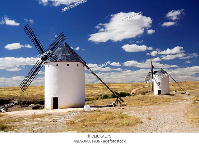 Campo de Criptana, Castilla-La Mancha, Spain, The windmills of Don Quixote