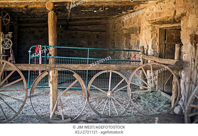 Ganado, Arizona - The barn at the Hubbell Trading Post. The trading post was established on the Navajo Nation in the 1870s; it is still a working trading post