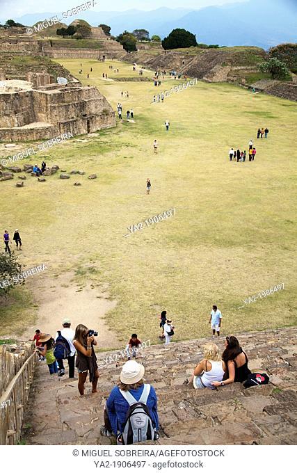 Monte Albán Archaeological Ruins Site in Oaxaca - Mexico