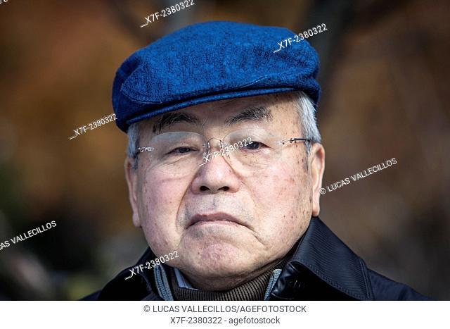 Syouzou Kawamoto, born in 1934, a Hiroshima Atomic Bomb Survivor, Hiroshima, Japan