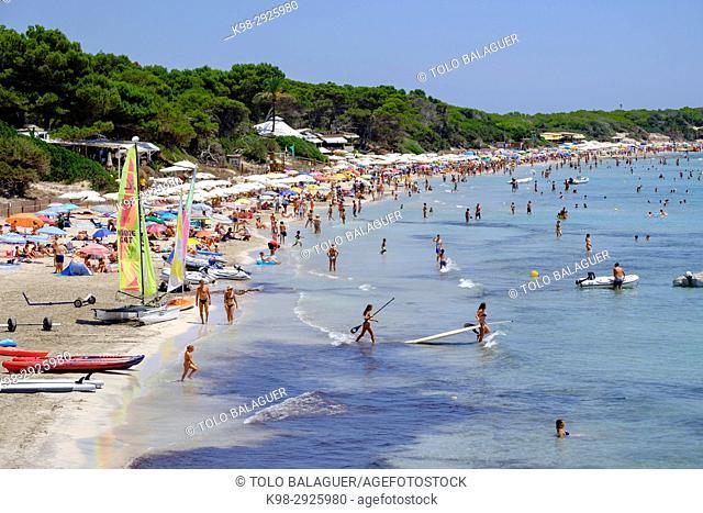 Ses Salines Beach, Sant Jordi de Ses Salines, Ibiza, Balearic Islands, Spain