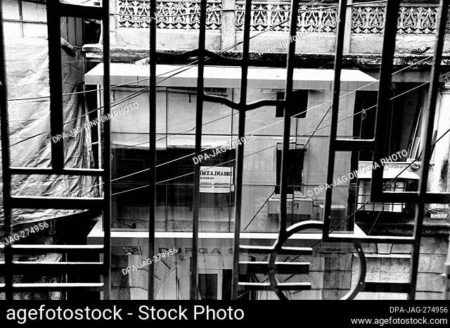 Reflective glass windows, Vithoba Lane, Vithalwadi, Kalbadevi, Mumbai, Maharashtra, India, Asia