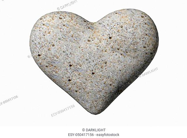 valentine hearts from rocks background isolated - 3d rendering