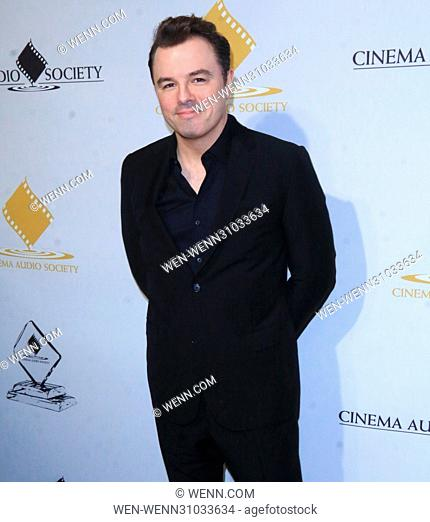 53rd Annual Cinema Audio Society (CAS) Awards at Omni Los Angeles Hotel at California Plaza - Arrivals Featuring: Seth MacFarlane Where: Los Angeles, California