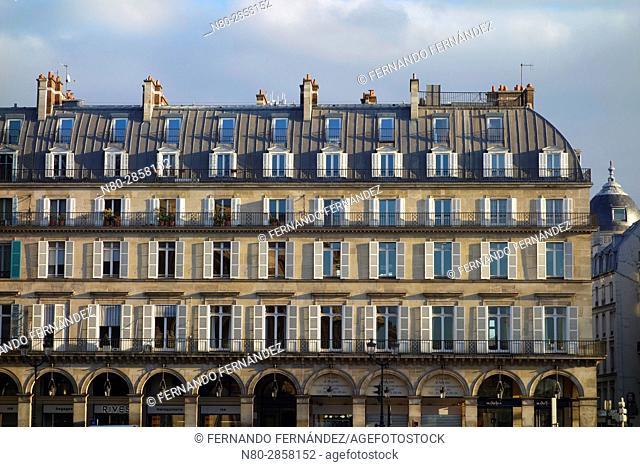 Rivoli street. Paris. France. Europe