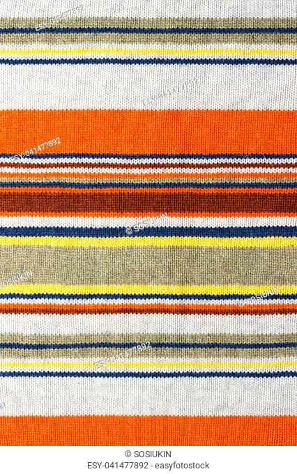 Colorful stripy mohair woolen fabric texture close up. Fabric multicolor background