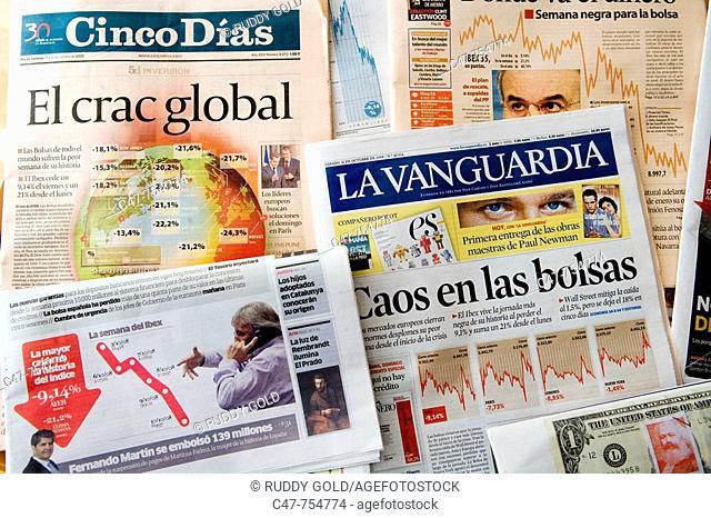 Crash spanish newspaper Stock Photos and Images | age fotostock