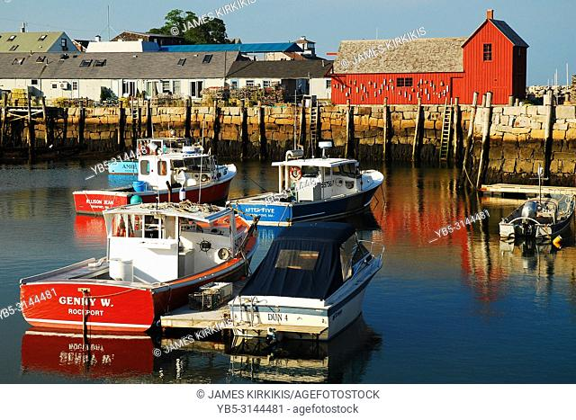 Lobster Boats Docked at Motiff 1 in Rockport