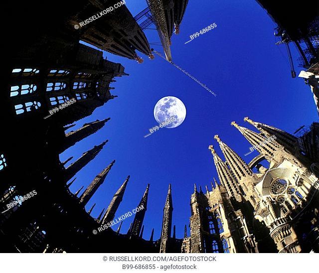 Sagrada Familia, Barcelona, Spain. Image Taken In 1999