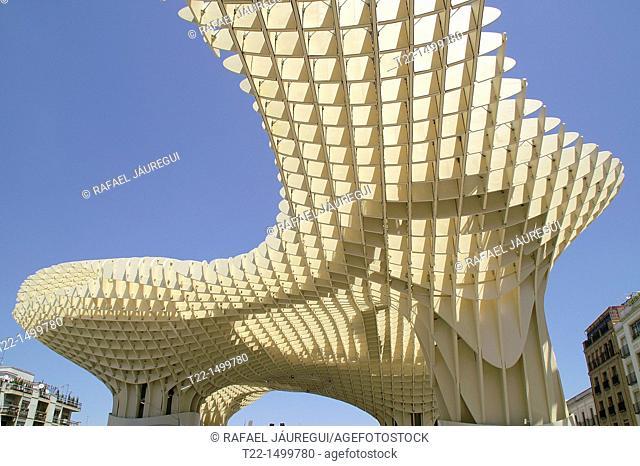 Sevilla Spain  Metropol Parasol in the Square Encarnación in Seville