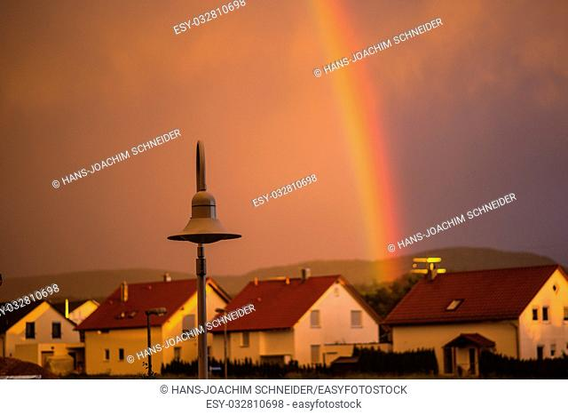 rainbow in the city in Germany