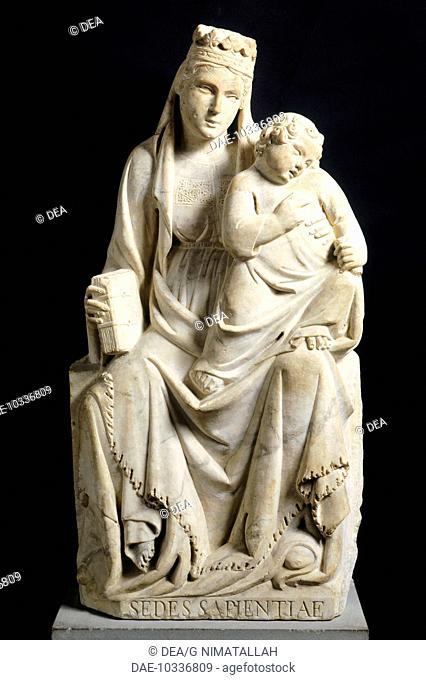 Madonna and Child, 1332, by Tino di Camaino (ca 1280-ca 1337).  Florence, Museo Nazionale Del Bargello (Bargello National Museum)