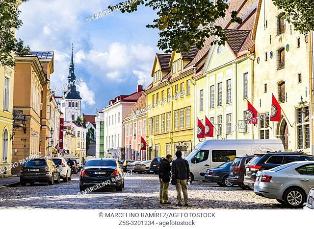Tallinn old town street. Tallinn, Harju County, Estonia, Baltic states, Europe