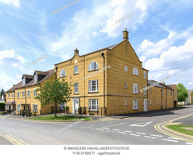 New houses in Broadway, Cotswolds, UK