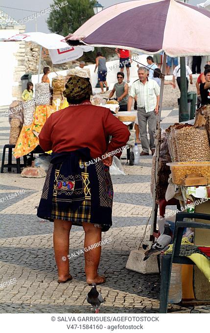 typical seller, Nazaré Nazaré, Leiria, Portugal, Europe