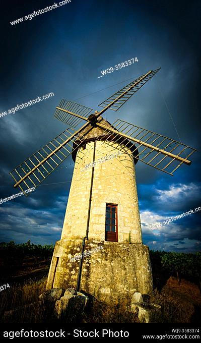 Moulin de Cante Ruch in Villeneuve de Duras, Lot et Garonne, France