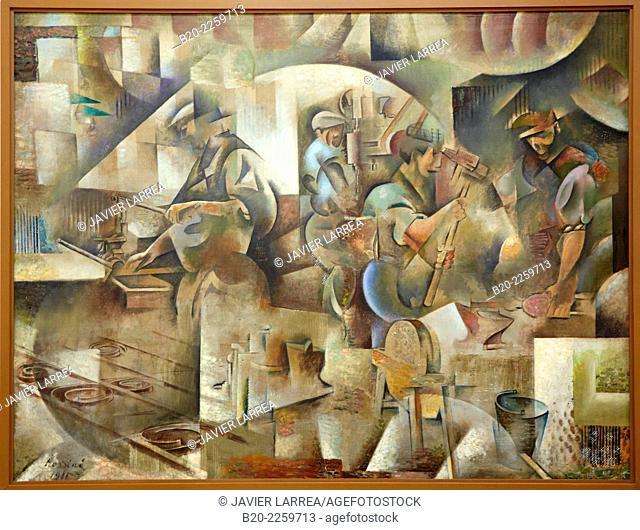 La Forge, 1911-1913. Wladimir Baranoff Rossiné. Centre George Pompidou. Musee National d'Art Moderne. Paris. France