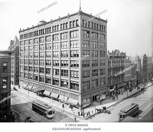 Ayres Building, Indianapolis, Indiana, USA, Detroit Publishing Company, 1910