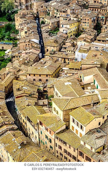 Panoramic of Siena Tuscany Italy Europe