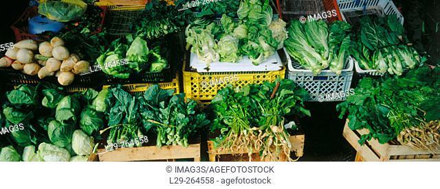 Vegetables in Bolhão Market. Porto. Portugal