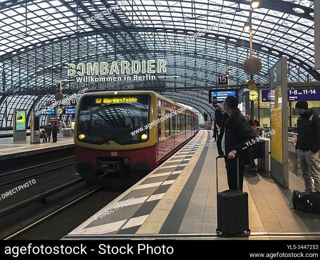 Berlin, Germany, Tourists Traveling on Metro Subway Public Transportation, Berlin Central Train Station
