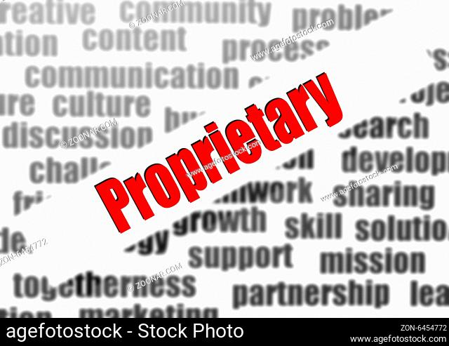 Proprietary word cloud