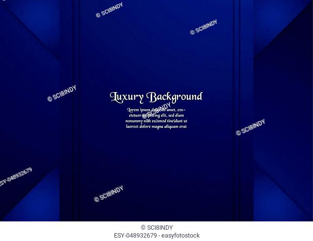 Abstract blue background in premium concept with copy space. Template design for cover, business presentation, web banner