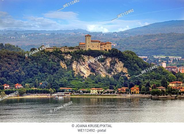 Castle on Lake Maggiore in Angera, Italy