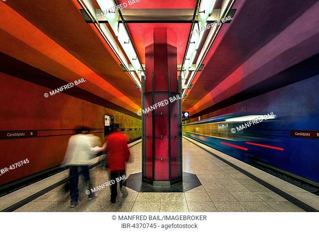 U-Bahn, underground station, Candidplatz, Munich, Bavaria, Germany