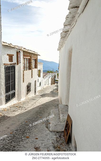 lane of village Bubión, Sierra Nevada, Andalusia, Spain