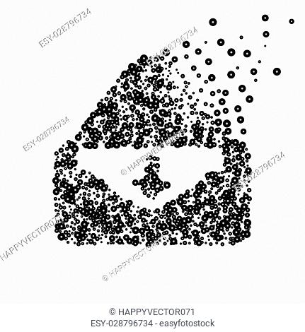 Abstract creative concept vector icon of envelope for Web and Mobile app isolated on background. Art illustration template design