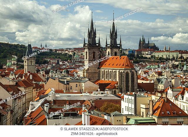 Prague old town skyline, Czechia