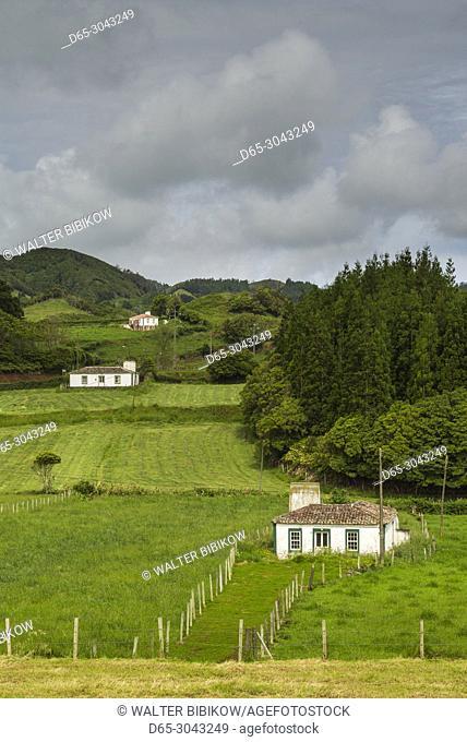 Portugal, Azores, Santa Maria Island, Terca, farmhouse