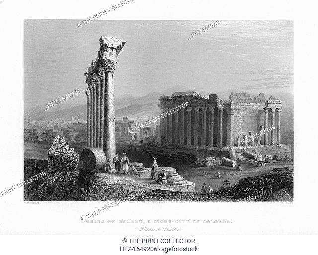 The Great Temple at Baalbec (Heliopolis), Egypt, 1841. From Syria, the Holy land and Asia Minor, volume III, by John Carne, published by Fisher, Son & Co