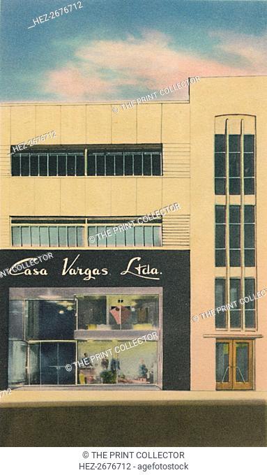 'The Modern Department Store Casa Vargas Ltda., Barranquilla', c1940s. Artist: Unknown