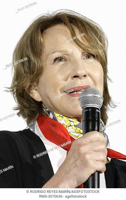 June 23, 2018 - Yokohama, Japan - French actress Nathalie Baye speaks during a talk show for the film 'Moka' and the short film 'Thomas' during the Festival du...