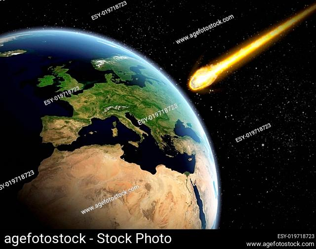 Asteroid and Earth apocalypse