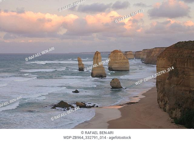 Landscape view the Twelve Apostles at Port Campbell National Park along the Great Ocean Road in Victoria, Australia